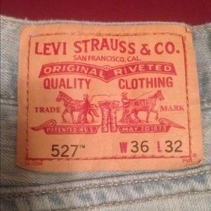 Levi's 527 Low Boot Cut Jeans 36x32 Light Blue - H